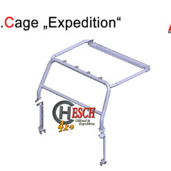 SafeCage-Expedition, Roll Cage Defender mit Hubdach