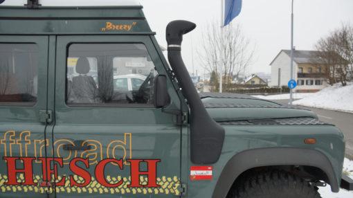 TJM Airtec Schnorchel am Defender