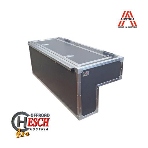 Innenausbau Landrover Defender, Radkastenbox-hoch-Carbon