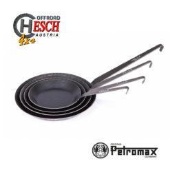 Petromax Pfannen Schmiedeeisern SP20-34 gestappelt